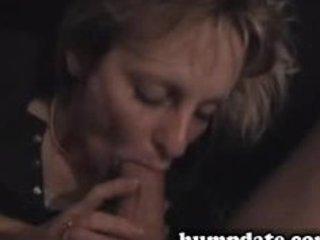worthwhile brunette hair wife sucks big cock