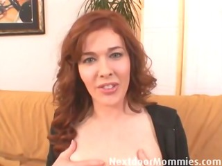 redhead mommy engulfing and fucking