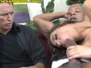 his sexy wife gives head to black guy