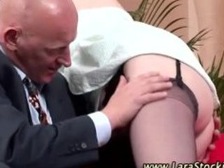 aged lady in stockings receives sexy