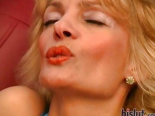 this glamorous mature blond was lustful