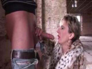 aged fetish nylons slut receives drilled
