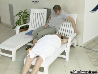concupiscent old woman goes eager sucking part2