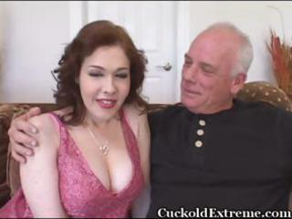 milky white busty wife acquires stuffed with a
