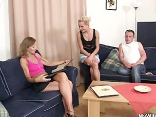 she is sees her man fucking mother in law