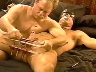 cbt squeezing my hirsute hunks balls in vise as