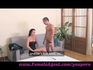 femaleagent. cums to command