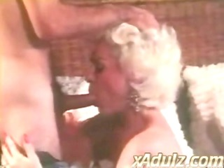 retro grey haired granny gives sensual deepthroat