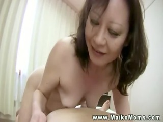 hungry mother i engulfing on cock in shower and