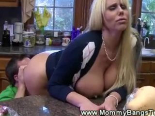 blow job kitchen play for horny milf from young