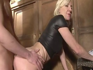 blonde mature charlie drilled right into an anal