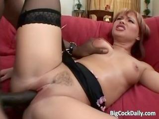 wicked redhead milf blows large dark cock