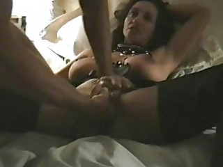 perverted darksome haired milf with big love