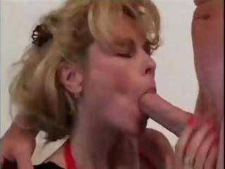 blone milf sucks his pecker and bonks for a good