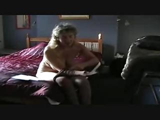 aged puts pantyhose on