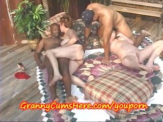 bi raunchy grannies eat cum outdoors