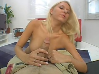voluptuous gal riley evans attacks a cock with