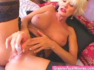 extreme super sexy golden-haired granny