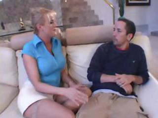 busty blond mother i takes out his cock and gives