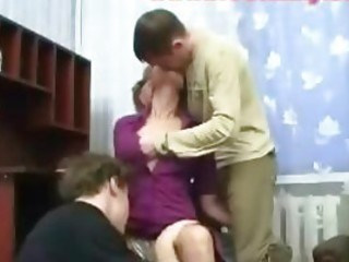 older lady banged by students