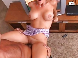 brunette charming mother i with large mangos