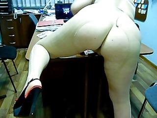 pushunas in riped pantyhose