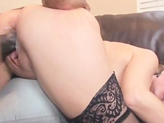 aged sara james goes down on darksome cock