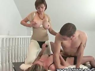 aged femdom fetish fuck trio