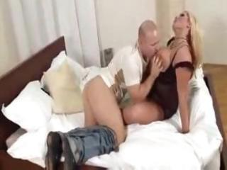 hot breasty blond mother i acquires licked and