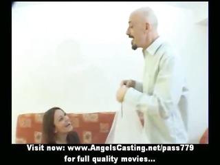stunning redhead bride doing oral-sex