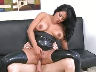 breasty dark brown mother i kiara riding a dick