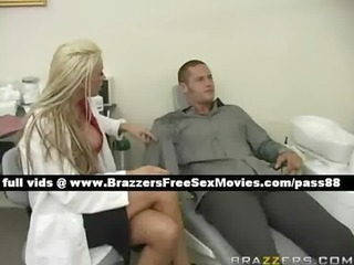 sweet naked golden-haired dentist on the chair