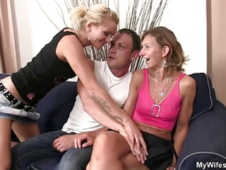 daughter watches hubby fuck her old mom