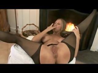 mature mamma stockings & hard sexy teats