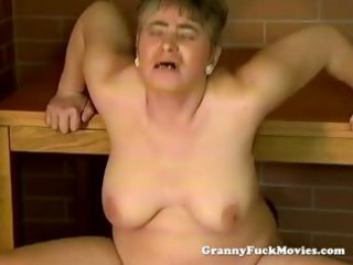 messy granny public pounding