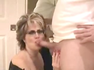 aged wife with large pantoons facial
