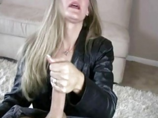 Milf sara james give hand job to big cock