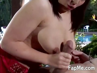babe takes a cock in her sexy face hole