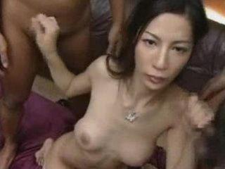 beauty moist curly oriental milf gang group-sex