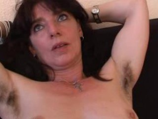 hairy mature non-professional in panties widens