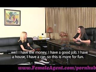 femaleagent. pleasing blond needs no persuading