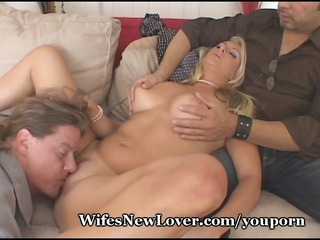 guy shows whimp hubby how to fuck