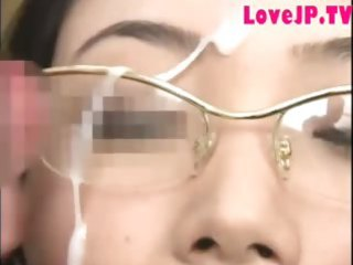 japanese mother i in glasses banged and cummed on