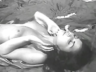 lady shows all 63 (black and white vintage)