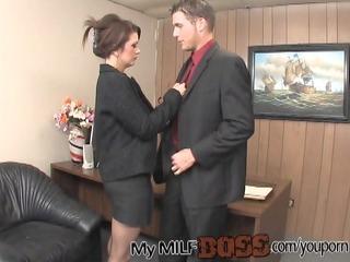 fortunate fellow nailing his milf boss