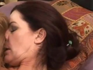 bawdy cleft eating milfs