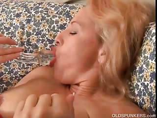 pretty aged golden-haired is a squirter