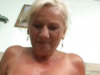 naughty breasty granny in hard pov act