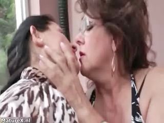 sexy breasty and older lesbian babes getting