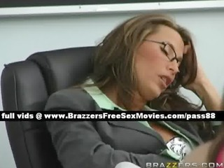 breathtaking brunette teacher sleeps in the